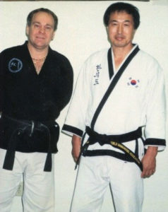 Mr.Shoffit with Dr. He Young -Kimm, 10th Dan/Founder HanMooDo, 9th Dan KukSoolWon