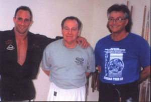 Eric Mattingly, GrandMaster Ron Van Browning (10th Dan) with Mr.Shoffit