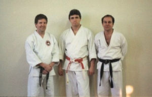 Martial Arts historian Keith Yates, Daito-ryu Aiki-Jitsu Master Tony Annesi with Mr. Shoffit